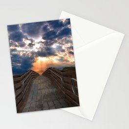 Sunset Boardwalk - Outer Banks, NC Stationery Cards