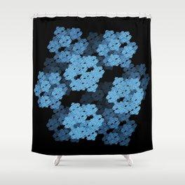 3D Fractal Cubes Shower Curtain