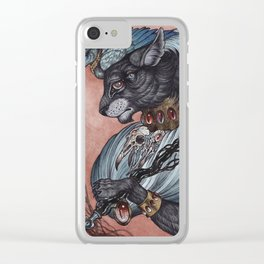 Jack of Spades art print Clear iPhone Case