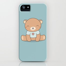 Kawaii Cute Teddy Brown Bear iPhone Case