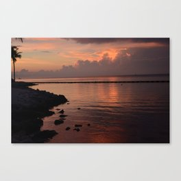 fla. sunset Canvas Print