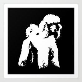 PET POODLE DOG Art Print