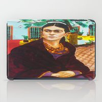 frida kahlo iPad Cases featuring Frida Kahlo by Michael Diggs
