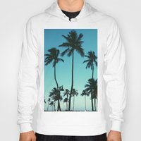 palm trees Hoodies featuring Palm Trees by Whitney Retter