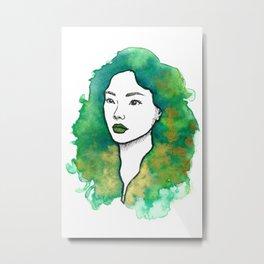 Green Tea Mochi Metal Print