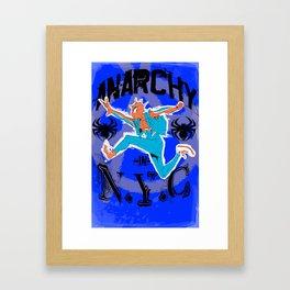 Anarchy in N.Y.C Framed Art Print