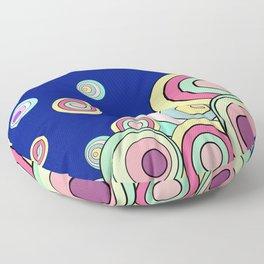 Color Fantasia: Blue Nightscape Floor Pillow