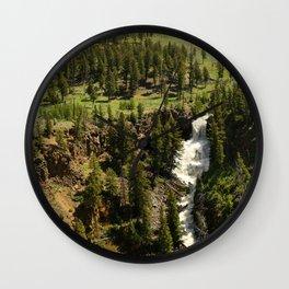 Undine Falls Yellowstone N P Wall Clock