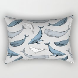 Whales are everywhere Rectangular Pillow