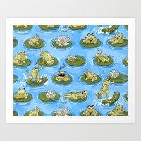 Froggy Fun Art Print