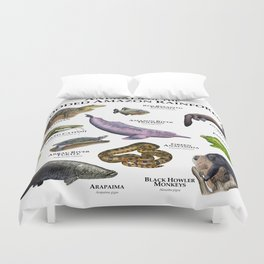Animals of the Flooded Amazon Rainforest Duvet Cover