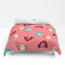 Bubblegum Diamonds Comforters