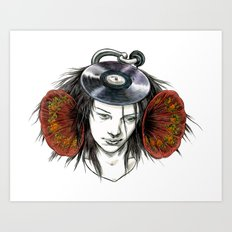 Record Head Art Print