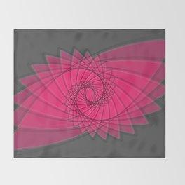 hypnotized - fluid geometrical eye shape Throw Blanket
