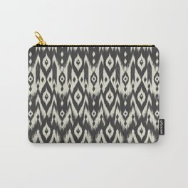 Black & Cream Tribal Ikat Carry-All Pouch