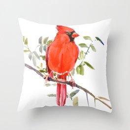 Cardinal Bird homde decor Throw Pillow