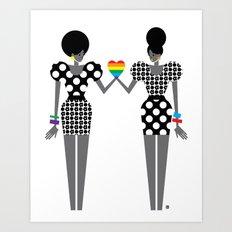 Totally in Love Girls (LGBT) Art Print
