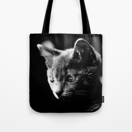 black and white kitten Tote Bag