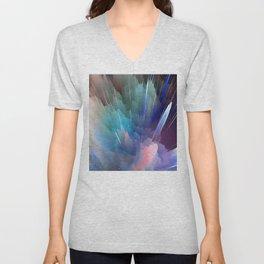 Color Burst Design Unisex V-Neck