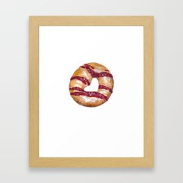 PB&J Donut Framed Art Print