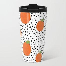 Polka Dot Oranges Travel Mug