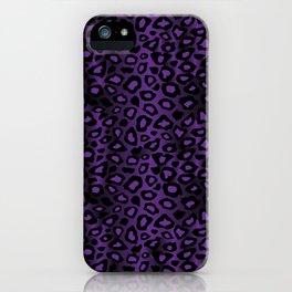 Deep Purple Leopard Skin Pattern iPhone Case