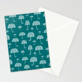 April Showers // Teal Stationery Cards