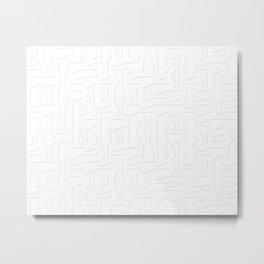 Very subtle relief geometric large pattern Metal Print