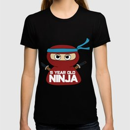 Birthday Ninja Party Samurai Ninjas Gift Japanese Ninja stars Fighter Gift 5 T-shirt