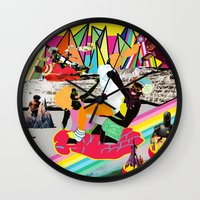 girls Wall Clocks featuring girls by mark pieterson