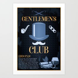 Gentleman's Club Poster Art Print