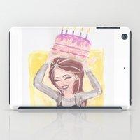 happy birthday iPad Cases featuring Happy Birthday by carotoki art and love