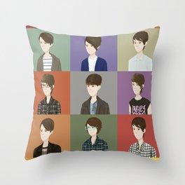 Tegan and Sara: Montage #2 Throw Pillow