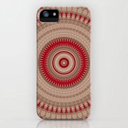 Textured Red Madala iPhone Case