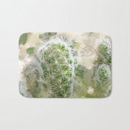 My little green cactus Bath Mat