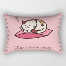 Just let me sleep - cute cat Rectangular Pillow