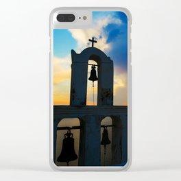 Magical Santorini Clear iPhone Case