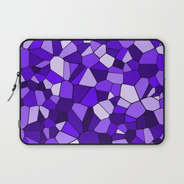 Violet Purple Blue Mosaic Pattern Laptop Sleeve