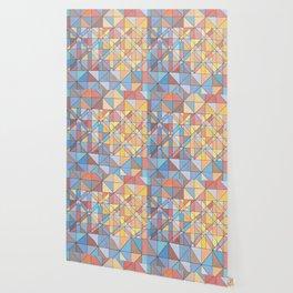 Triangle Pattern no.16 Pastels Wallpaper