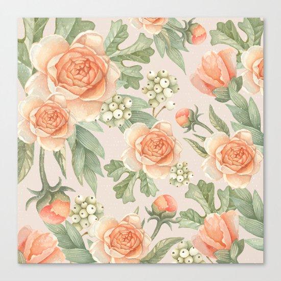 Flowered nature Canvas Print