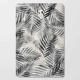 Palm Leaves - Black & White Cutting Board