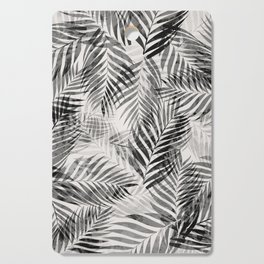 Palm Leaves - Black & White Cutting Board