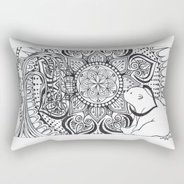 Polar Bear Mandala by Lady Lorelie Rectangular Pillow