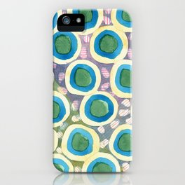 Four Directions beneath Circles Pattern iPhone Case