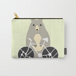 Bear with bike Carry-All Pouch