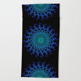 Ombre Tribal Hammerhead Mandala Beach Towel