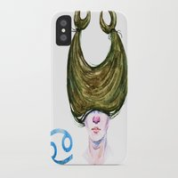 cancer iPhone & iPod Cases featuring Cancer by Aloke Design
