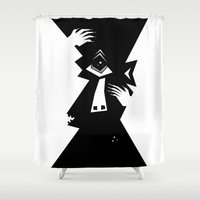 cyclops Shower Curtains featuring Cyclops by 5wingerone