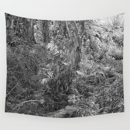 Rain forest view with creek Wall Tapestry