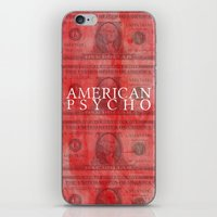 american psycho iPhone & iPod Skins featuring American Psycho by Robert Payton